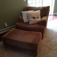 Raymour & Flanagan Chair and Ottoman w/ Pillows Hopewell Junction, 12533