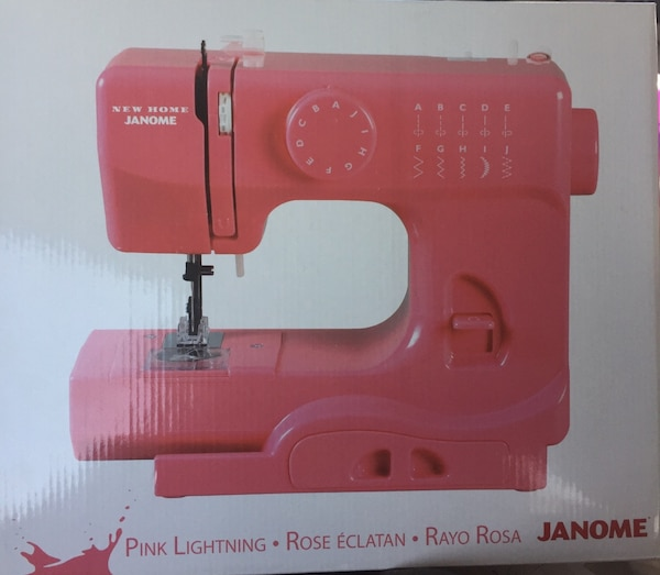 Used Pink Lightning Rose Eclatan Rayo Rosa Janome Sewing Machine For Stunning Rose Sewing Machine