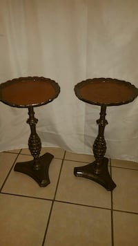 Two Brown  side tables