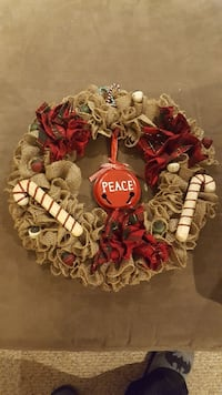 red and brown Peace wreath