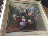 white and purple petaled flowers painting Perris, 92571