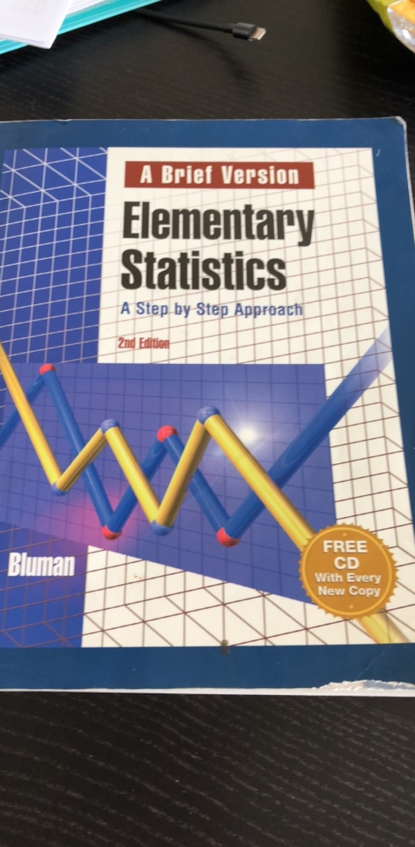 Used Allan Bluman Elementary Statistics A Step By Step Approach A