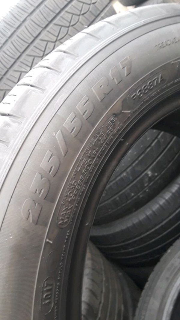 235/55-17 #2 tires  4