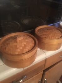 2 Bamboo Steamers. Make offer Woodbury, 10917