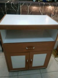White and wood appliance cart Pembroke Pines, 33024