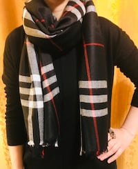 Burberry scarf in black check  Saskatoon