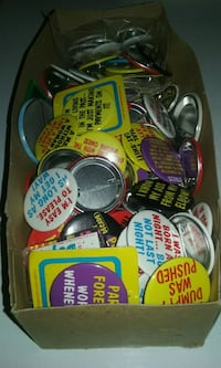 Box of novelty buttons