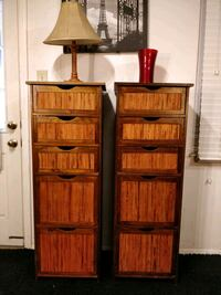 Nice wooden 2 tall dressers with 5 drawers each in Annandale, 22003