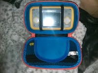 yellow VTech portable console with bag