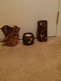 Two new cases and candle holder Milford Mill, 21244