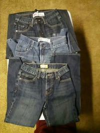 (3) pairs of boys jeans size 10 Zanesville, 43701