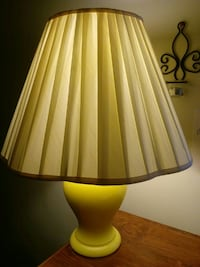white table lamp with beige lampshade Greensboro, 27409