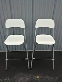 2 White IKEA Franklin Bar Stools in good condition Baltimore