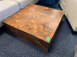 New Solid Wood Abstract Coffee Table