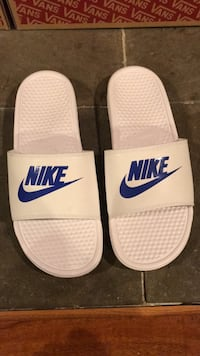 pair of white Nike slide sandals Springfield, 22152
