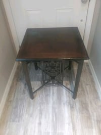 Wood side table with iron base New Port Richey, 34654
