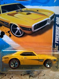 yellow coupe die-cast model San Diego, 92109