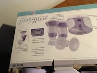 purple and white breast pump kit box