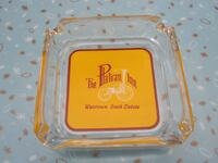 Rare Vintage The Plateau Inn Squared Glass Ashtray Winnipeg