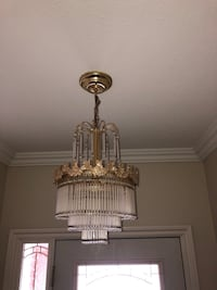 Gold chandeliers as is