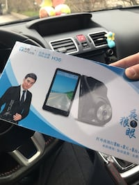 Front and rear 2 in 1 dash camera with 4 inch touch screen. Whitchurch-Stouffville, L4A 0T1
