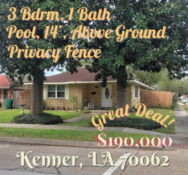 HOUSE For sale in Kenner 3BR 1BA