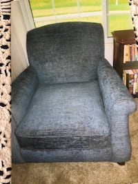 Two armchairs- steel Blue. New