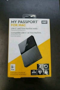 MY PASSPORT FOR MAC WD 2 TB, Sealed pack Toronto, M9V 2X6