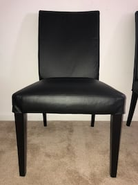 Black leather padded armless chair West Chester, 19382