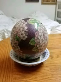 Floral Printed Decorative Egg  Barrie