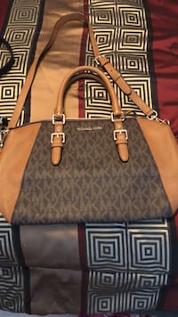 Brown and gray michael kors leather tote bag Woodbridge, 22192