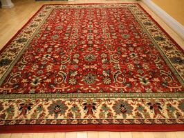 Red Persian Rug Area 8x11 Living Room Carpet