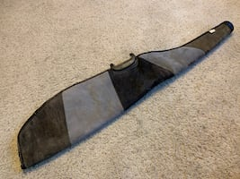 ~LIKE NEW~! Gray Leather Rifle Case