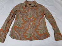 brown and white floral long-sleeved shirt Surrey, V4A 4Z7