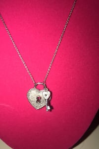 Heart with key sterling necklace! Toronto, M6E 3J8