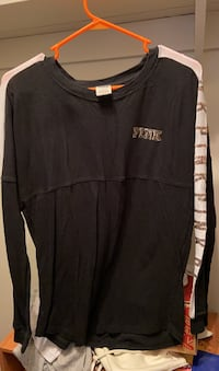 PINK black long sleeve shirt (small) Springfield, 22152