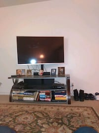 """50"""" Element HD TV with stand and XBOX 360 and sound bar and Amazon fir"""