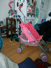 baby's pink and white stroller Bury, BL9