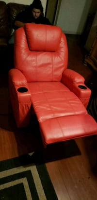 red leather recliner sofa chair Modesto, 95358