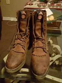 brown Justin leather logger boots Pascagoula, 39567