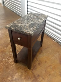 black wooden side table with drawer Central, 70818