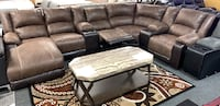 Reclining sectional with chaise available cup holder USB ports BIGSALE  Jacksonville, 32246