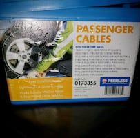 Tire Chains/Passenger Cables for snow and ice