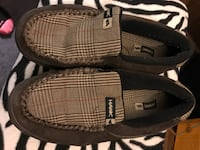 pair of gray Hawk loafers