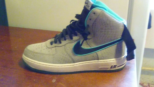 5d3d5fbbd0bd Used gray blue air force 1s ( worn once )for Photoshoot for sale in New York