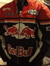 rød, hvit og svart Motul Red Bull zip-up jakke i skinn limited edition