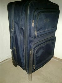 blue and black travel luggage Lubbock