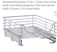 BNiB Extra Deep Under Sink Sliding Organizer Chrome Toronto, M3H 2H2