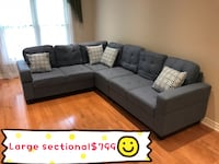 Brand new in box, blue large fabric sectional sofa warehouse sale  549 km
