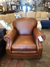 Brown Leather Armchair Los Angeles